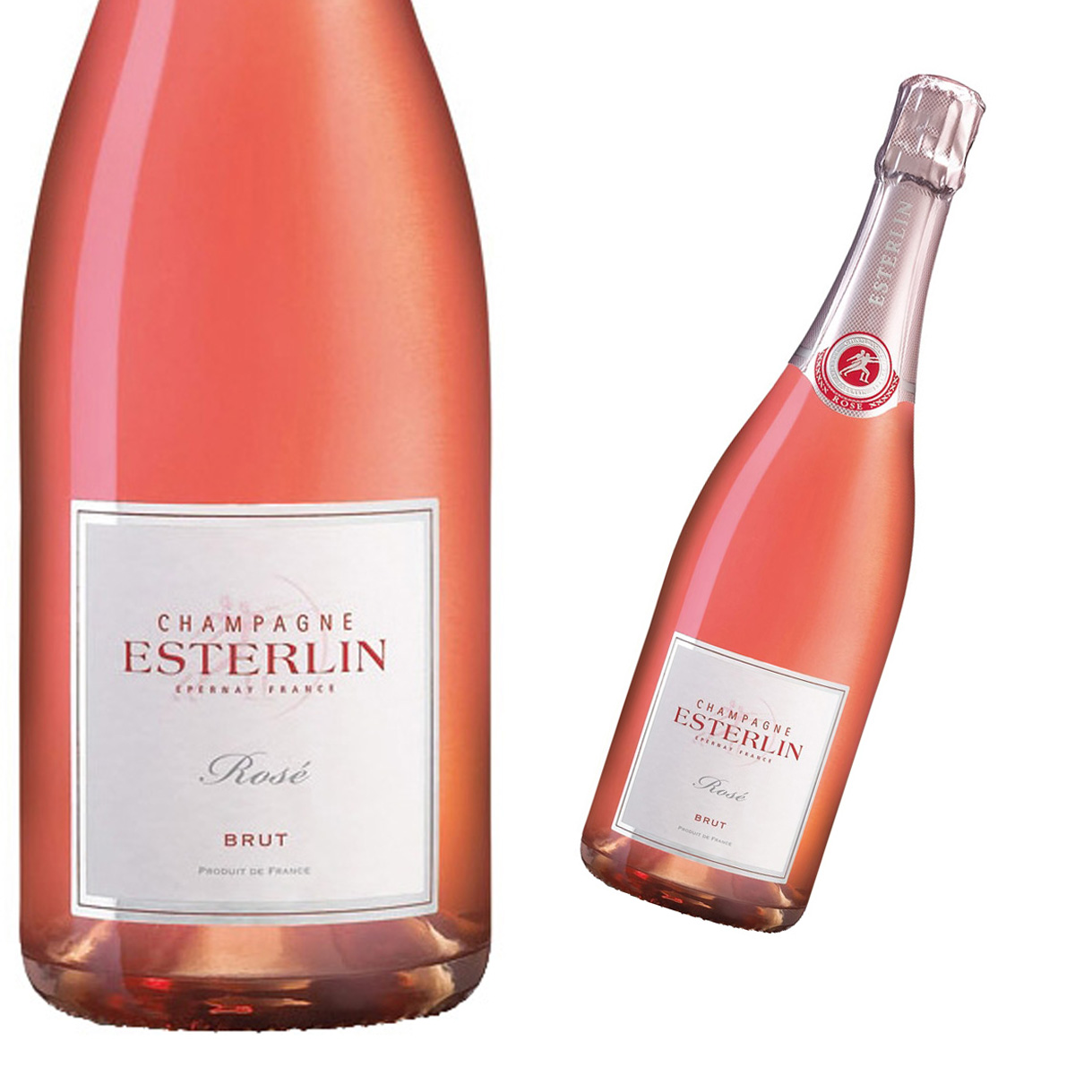 Esterlin brut exclusif champagne for What is rose champagne