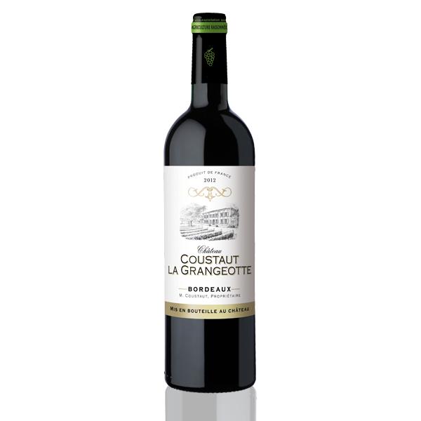 Bouteille vin rouge Bordeaux Coustaut Grangeotte