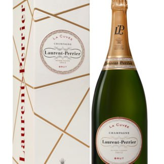 Magnum de champagne Brut Laurent Perrier avec étui créé par Olivier Martinot