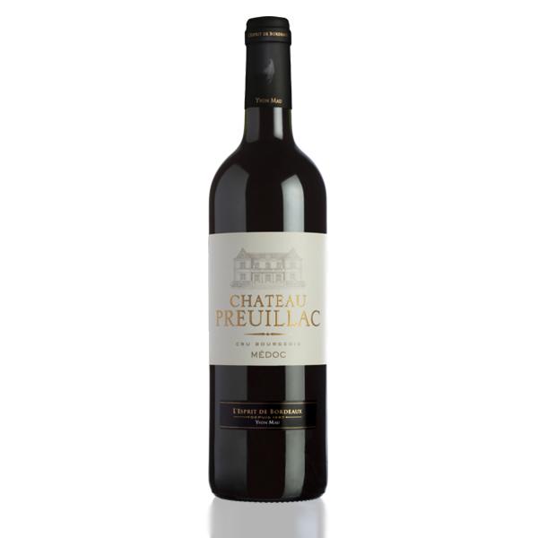 bouteille vin chateau preuillac
