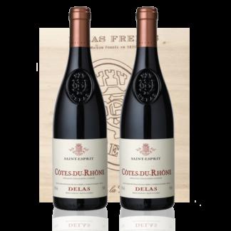 Coffret Vin Delas Rouge Saint Esprit