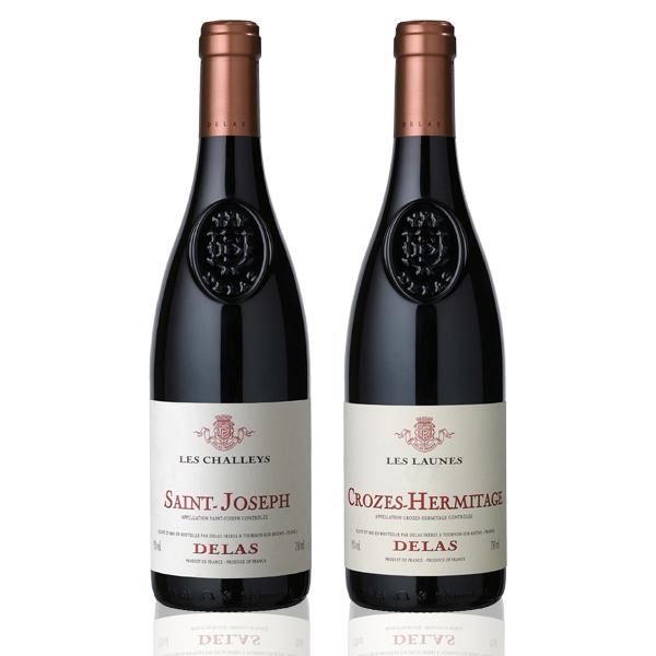 Coffret 2 bouteilles Delas Launes Challeys