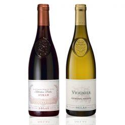 Coffret 2 bouteilles Delas Syrah Viognier