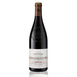Bouteille vin rouge Chateauneuf du Pape Delas