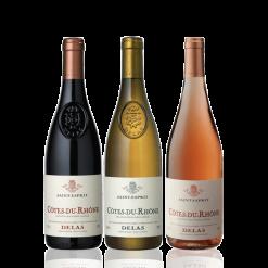 coffret vin rouge blanc rose vallee du rhone