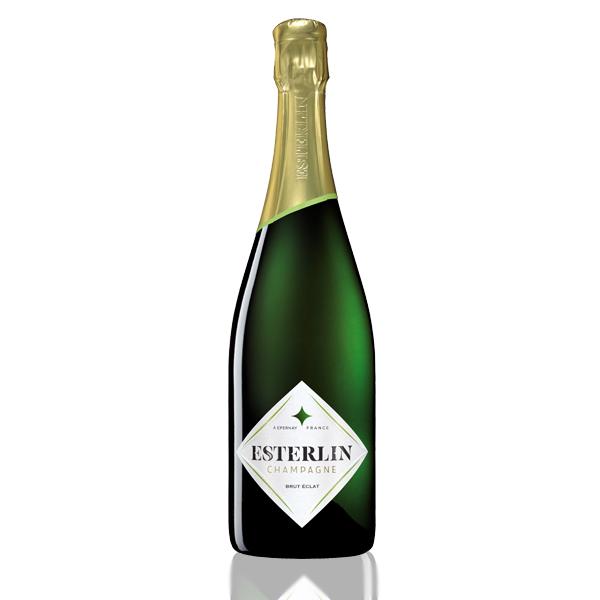 bouteille champagne esterlin brut eclat