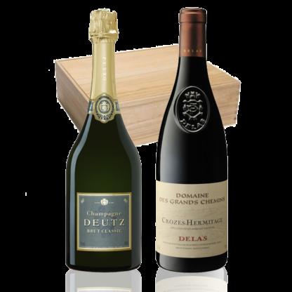 coffret champagne vin deutz delas