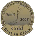 medaille iwsc gold 2007