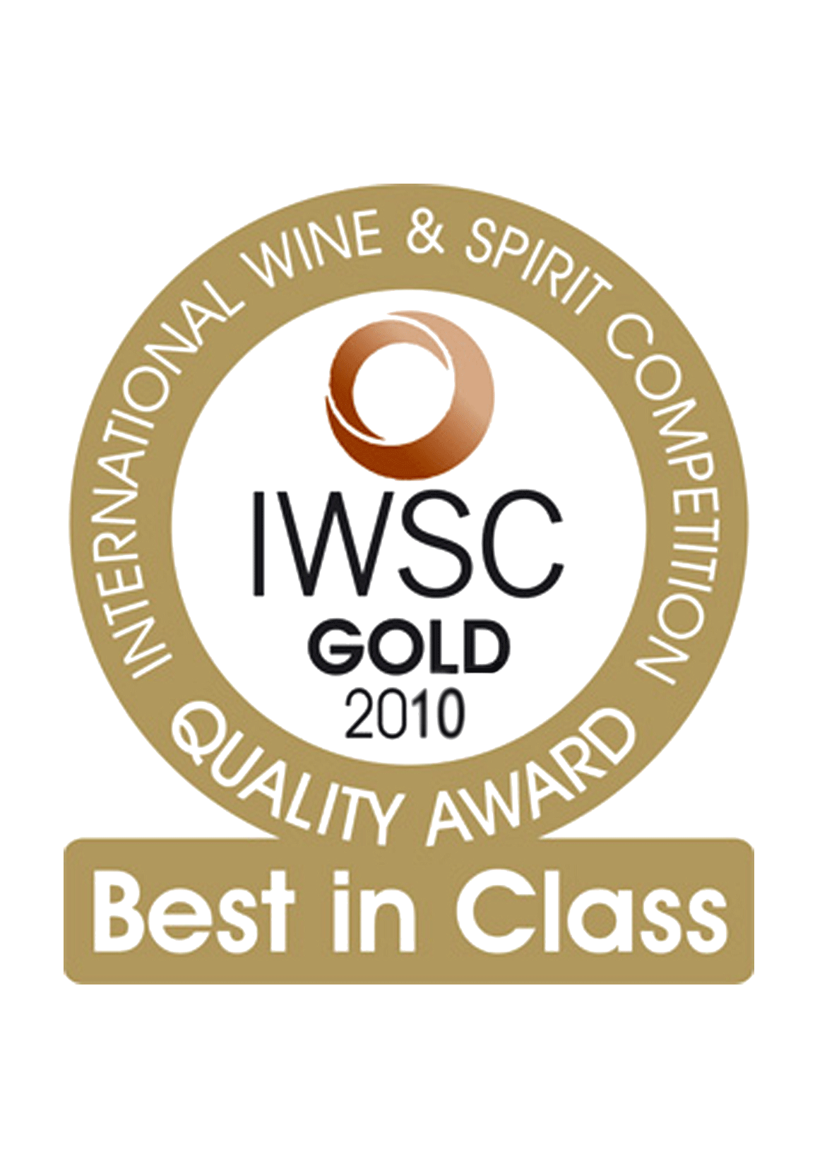 medaille iwsc gold 2010