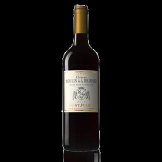 Bouteille vin rouge bordeaux moulin bridane