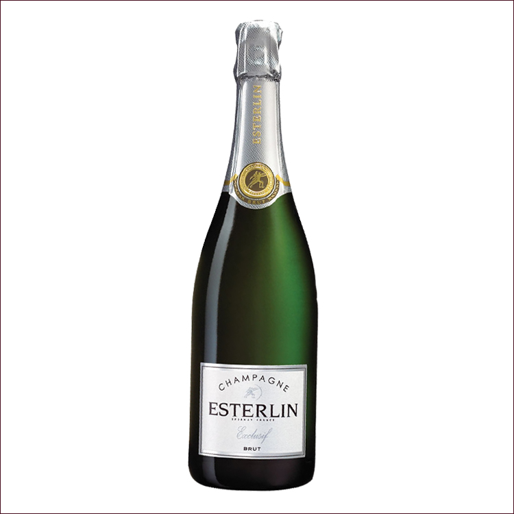 Esterlin brut exclusif champagne demi bouteille 375ml - Couleur lin brut ...