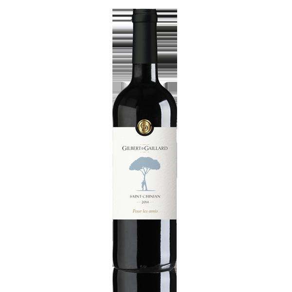 Bouteille vin rouge Gilbert Gaillard