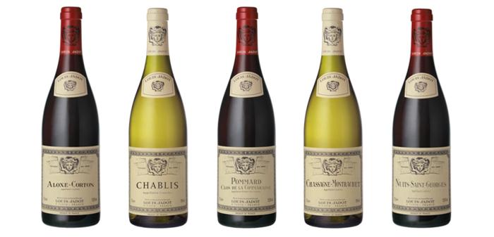 Bouteilles vin Bourgogne Louis Jadot