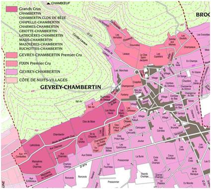 carte climat Gevrey Chambertin