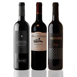 Coffret vins étrangers Espagne Portugal France