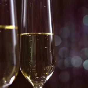 coupes de champagne Noël