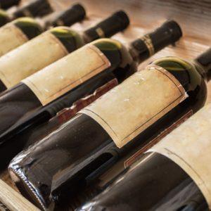Bouteille vin étiquette