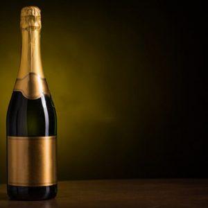 Bouteille champagne sans étiquette