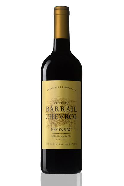 Bouteille vin rouge Barrail Chevrol Fronsac