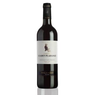 Bouteille vin rouge Guadet Plaisance Saint Emilion