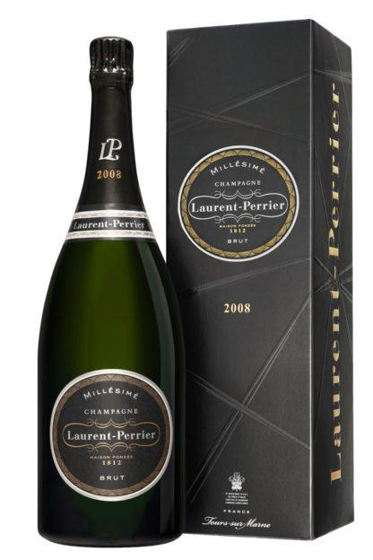 Magnum de champagne Laurent Perrier millésimé 2008 avec étui créé par Olivier Martinot
