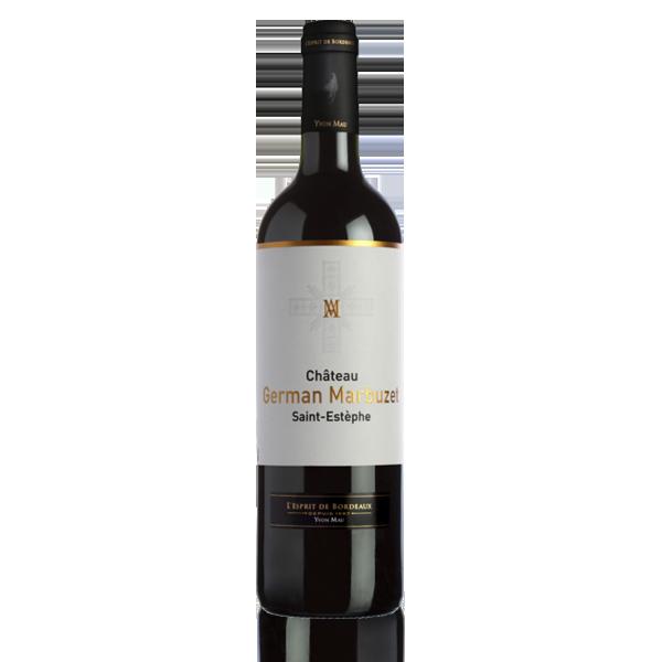 Bouteille vin rouge St Estephe Bordeaux