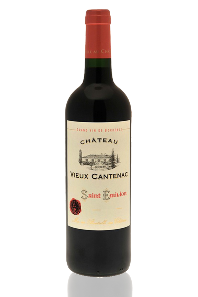 bouteille vin rouge Bordeaux vieux cantenac