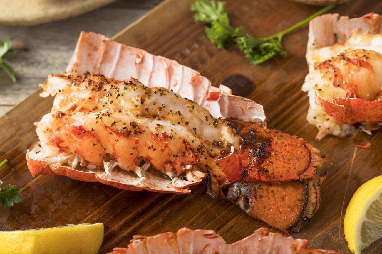 poisson homard barbecue vin