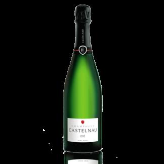 Bouteille champagne Castelnau brut rose