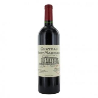 Bouteille de vin rouge du château Haut Marbuzet